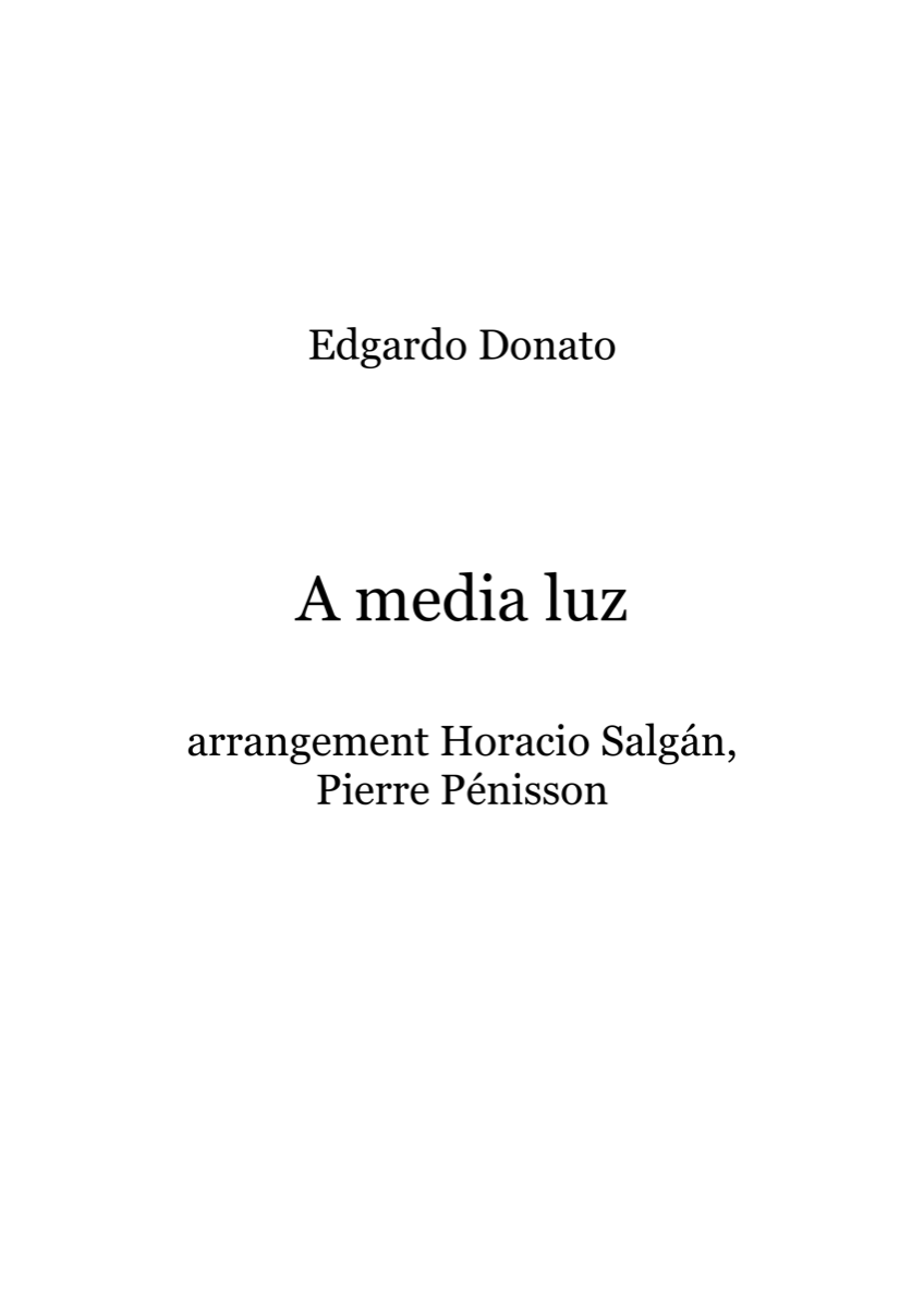 A media luz, Edgardo Donato