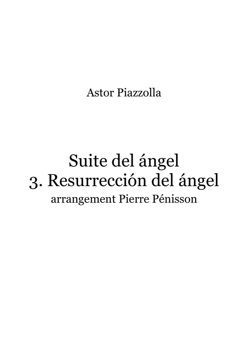 Resurreccion del angel, Astor Piazzolla