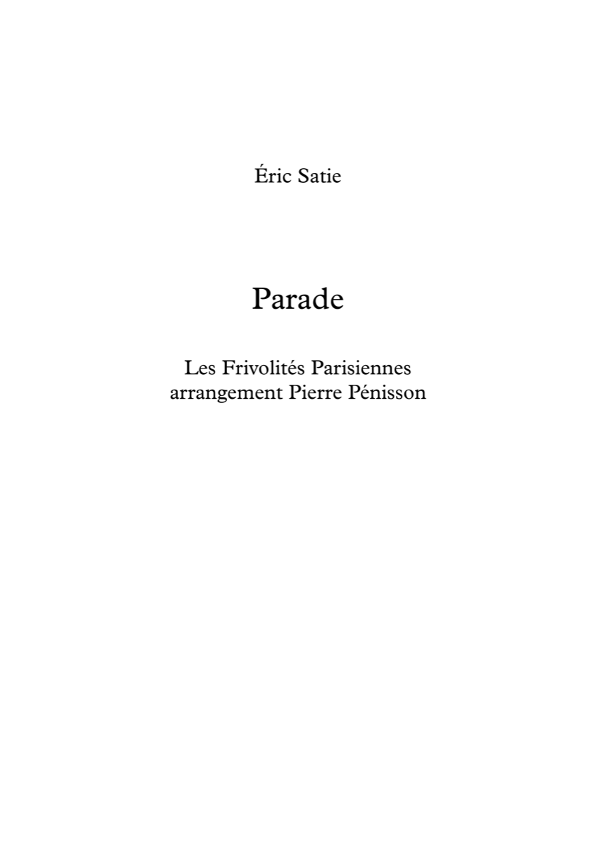 Parade, Éric Satie
