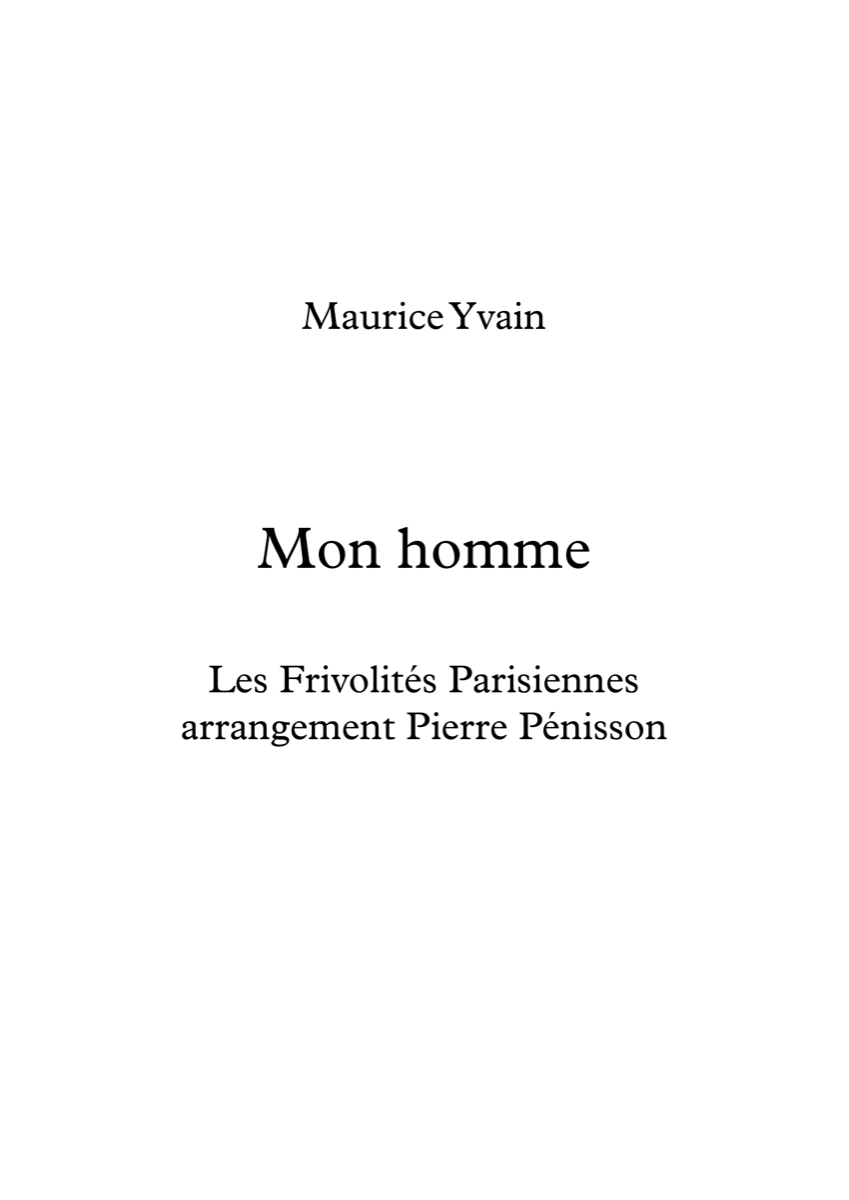Mon homme, Maurice Yvain